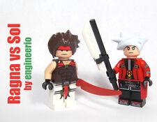 LEGO Custom Minifigure Blazblue Ragna vs Sol ninja knight sword video game