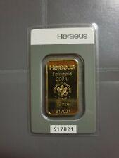 Goldbarren 1 Unze Heraeus 999,9 im Blister 1 oz