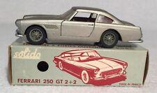 Vintage All Original Solido 123 Ferrari 250 GT 2+2 Champagne Red Interior w/ Box