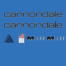Cannondale M400 Bicycle Decals, Transfers, Stickers: Black n.203