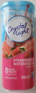 NEW CRYSTAL LIGHT STRAWBERRY WATERMELON DRINK MIX 12 QUARTS FREE WORLD SHIPPING