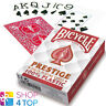 BICYCLE PRESTIGE 100% KUNSTSTOFF SPIELKARTEN KARTEN JUMBO INDEX ROT POKER NEU
