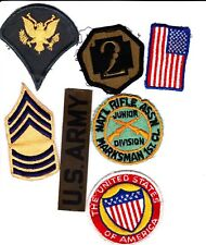 Collectible Lot of Mixed Military Patches (7) National Rifle Marksman 1st Cl