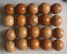 20 Natural Grain of Wood Jasper Crystal Spheres Balls Polished Healing (48-49mm)