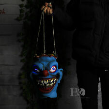 New Horror Evil Clown Blue Head Halloween Scary Props Bloody Head Candy Bag Lamp