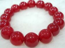 Charming! 10mm Red Ruby Round Beads Bracelet AAA 7.5 inches J29