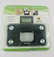 New Taylor 7086B Mini Glass Digital Electronic Scale w/ Expandable Readout Black