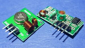 433 Mhz RF Transmitter and Receiver,  Arduino ARM MCU Pi
