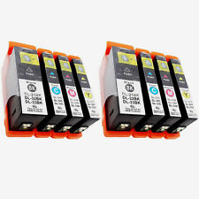 8PK New Chip High Yield  For Dell 31 32 33 34 Ink Cartridge Printer V525 V725w