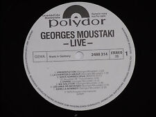 GEORGES MOUSTAKI -Live- 2xLP 1975 Polydor Promo Archiv-Copy near mint
