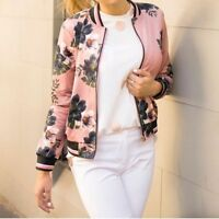 FROCK IN HEELS WOMEN'S ISA VINTAGE BOMBER JACKET - DUSTY PINK FLORAL SIZES S-L