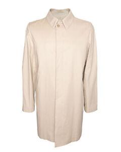 NWT ZEROSETTANTA STUDIO LANDI RAINCOAT beige cotton rainproof luxury Italy 54 XL