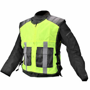 TRM ARK HIGH VISIBILITY HI -VIZ VEST MOTORCYCLE -  VISIBILITY FOR ALL PURPOSES
