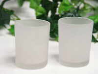 48 Frosted Glass Tealight candle restaurant cafe bistro wine bar tearoom party