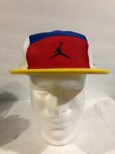 Air Jordan Youth White/blue/red/yellow Adjustable Cap