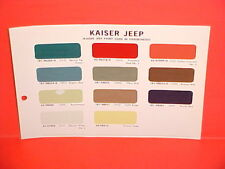 1966 1967 KAISER JEEP GLADIATOR TRUCK CJ WAGONEER JEEPSTER COMMANDO PAINT CHIPS