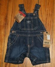 NWT Oshkosh Bgosh Jean Denim Overall Soft Short Infant 3M...