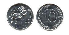 SLOVENIA: 7-PIECE UNCIRC. COIN SET, 0.10 TO 10 TOLARJEV