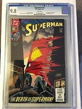 Superman (1987 2nd Series) #75 CGC 9.8 Death Of Superman Doomsday