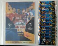 2020 Match Attax 101 Soccer Cards 10 Packets + FREE Folder Ronaldo Messi Mbappe