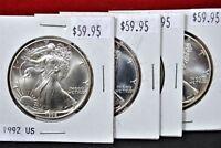 1992 American Silver Eagle BU 1 oz US $1 Dollar U.S. Mint Uncirculated Brilliant