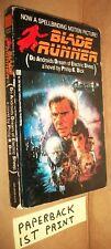 Blade Runner Del Rey 1982 1st pnt paperback Philip K Dick Ford Ladd cvr novel VG