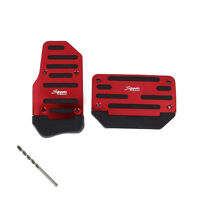 2X Non Slip Car Automatic Transmission Red Pedal Cover Brake Clutch Accelerator