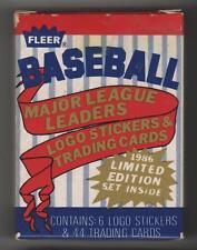 1986 Fleer Walgreen League Leaders 44-card Baseball Factory Set  Don Mattingly
