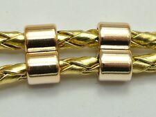 50 Gold Tone Metallic Acrylic 2 Rows/Strands Spacer Big Hole Beads