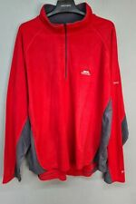 TRESPASS Mens SIZE XXL casual autumn winter red & grey fleece jacket (H156)