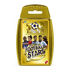TOP TRUMPS WORLD FOOTBALL STARS 2018 CARD GAME IN GOLD CASE NEW & SEALED