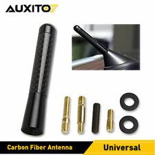 3inches Car Antenna Carbon Fiber Radio Fm Antena Black Kit Universal Short