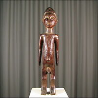 44350) Afrikanische Mangbetu Ahnen-Figur Kongo Afrika KUNST