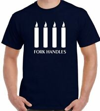 Fork Handles T-Shirt Four Candles The Two Ronnies Mens Funny