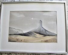 Charming Original Watercolor Painting, Monument Valley, Signed & Framed
