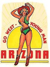 Grand Canyon  AZ  Pin-Up Vintage Style 1950's Travel Decal Sticker  Arizona