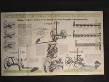 Dépliant MC Cormick - Machines de Fenaison - tracteur 1930 publicité collection