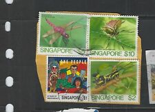 BRITISH COLONIES-SINGAPORE-ON PAPER MIX-SOME BETTER-#20