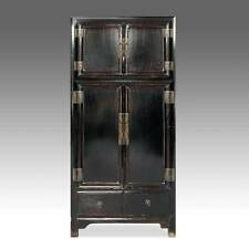Charmant FINE ANTIQUE CHINESE SHANXI LACQUERED ELM WOOD CABINET WARDROBE EARLY 20TH C