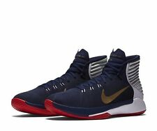 Nike Prime Hype DF 2016 Mens Basketball Shoes 10 Navy Gold Red 844787 400 USA