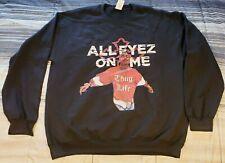 Vintage Hip Hop 2Pac All Eyes On Me Thug Life Spittiing Sweatshirt Sz Large