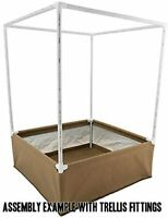 GRASSROOTS LIVING SOIL FABRIC RAISED BED 4/' X 4/' WITH STEENSLAND BLUMAT KIT