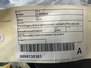 BMW 3 SERIES ECU MODULE #E283 F30 # Engine ECU # (BOSCH 0261.S15.091) P/N 8.663.