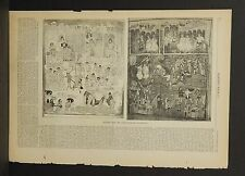 Harper's Weekly Single Pg. Pictures From Ashburnham Ms. Pentateuch 1883  A7#05