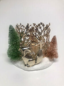 Bath & Body Works Winter Critters Fox & Trees Candle Holder
