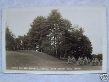 RPPC MA. EAST NORTHFIELD MASS. ROUND TOP & MEMORIAL TREES. REAL PHOTO POSTCARD