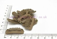 10 x HAIR PIECE CLIP EXTENSIONS SNAP CLIPS  NAT BROWN 2.8cm
