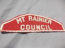 Mt Rainier Council Red and White Strip (no period)