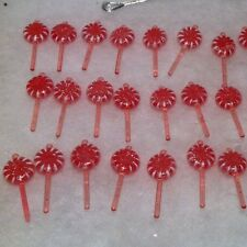 30 Mini Lollipop  pink mica coated Christmas Tree Ornaments fake Candy