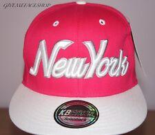 New York Pink snapback cap, baseball adjustable, mens and ladies hip hop bling